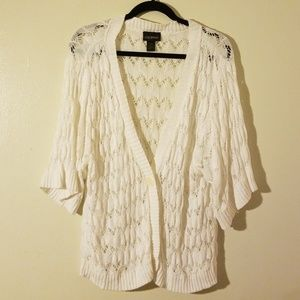 Lane Bryant White Cardigan Size 22/24